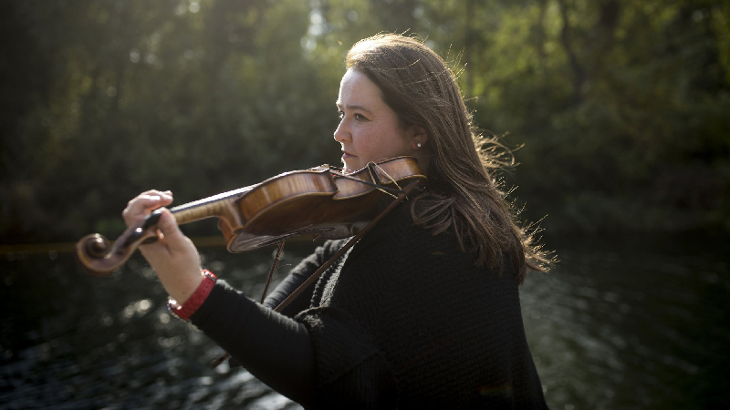 Laura Cannell is an English violinist and composer.   © David Levene / eyevine  Contact eyevine for more information about using this image: T: +44 (0) 20 8709 8709 E: info@eyevine.com  http:///www.eyevine.com