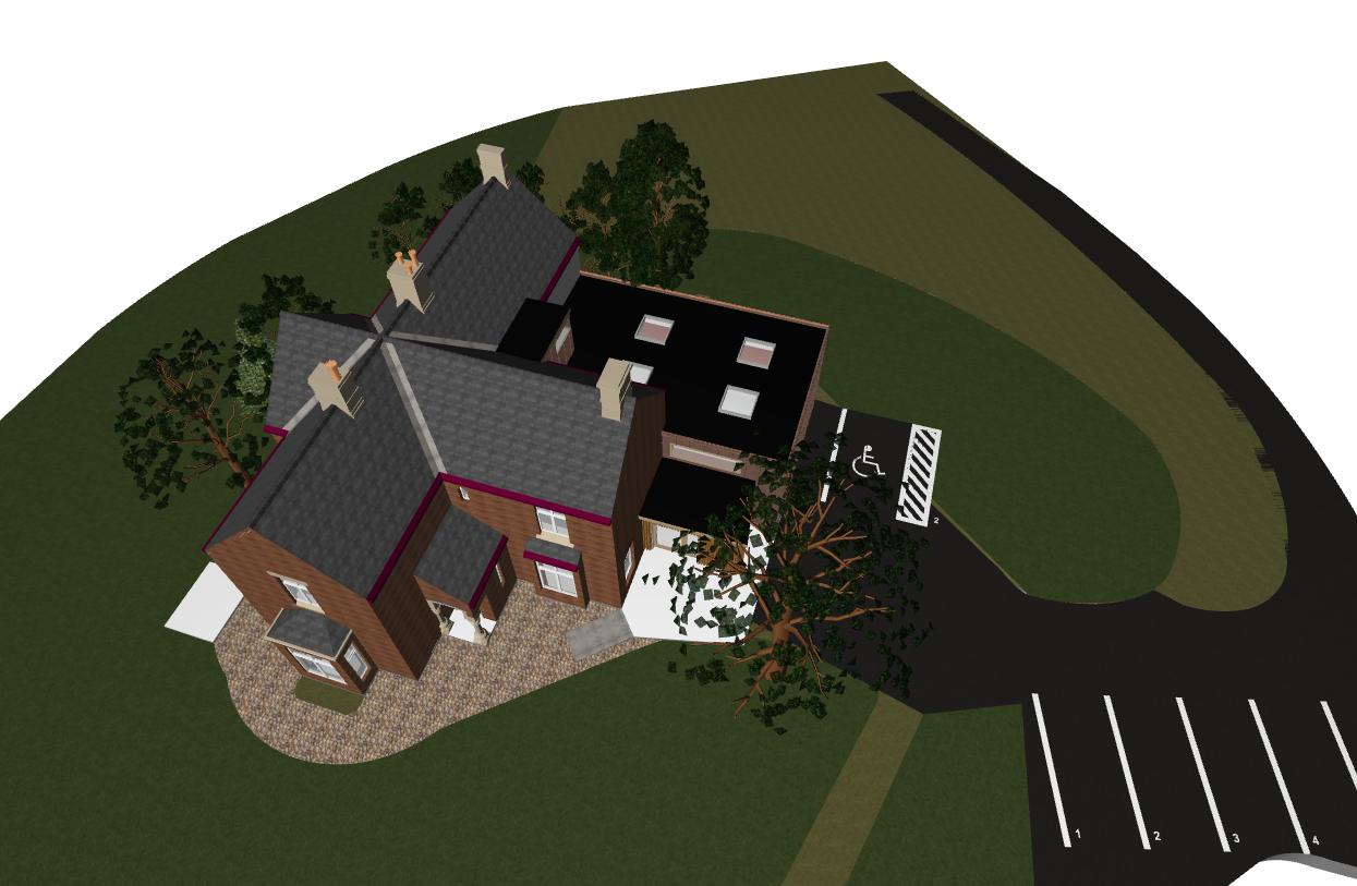 1195 – Piel view house – scheme 3D -1